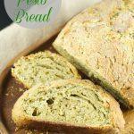 No Knead Pesto Bread