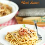 Spaghetti with San Marzano Tomato And Meat Sauce