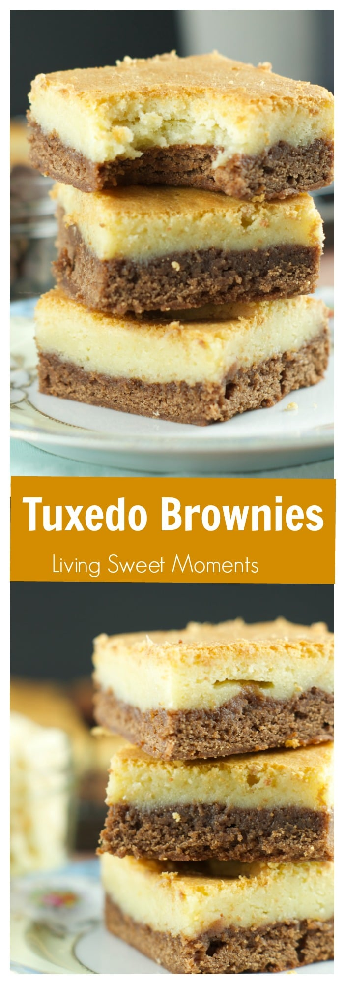 Fudgy rich chocolate brownies are topped with a layer of soft white chocolate blondies. This yummy 2 layer brownie is a chocoholic's dream.
