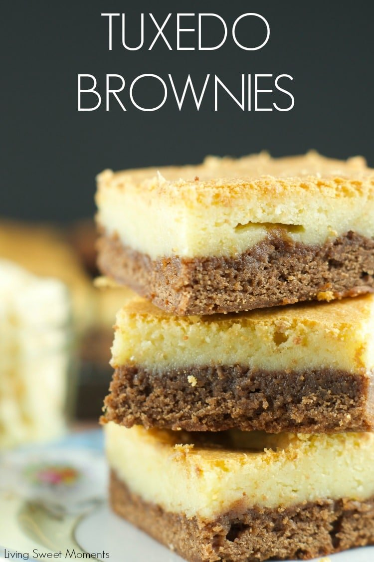 brownies are topped with a layer of soft white chocolate blondies ...