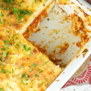Baked Polenta With Mascarpone And Tomato Sauce