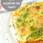 Baked polenta with Mascarpone and tomato sauce Recipe: delicious vegetarian dinner entree. Soft polenta made with mascarpone cheese and baked with tomato sauce