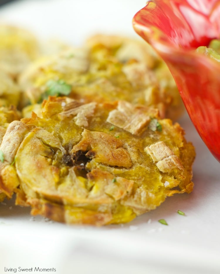 Baked Tostones With Guasacaca Sauce Recipe: easy plantains are crispy ...