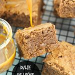 Dulce de leche brownies - Ooey Gooey fudgy brownies are filled with dulce de leche & chocolate chunks. The perfect dessert for any occasion. www.livingsweetmoments.com