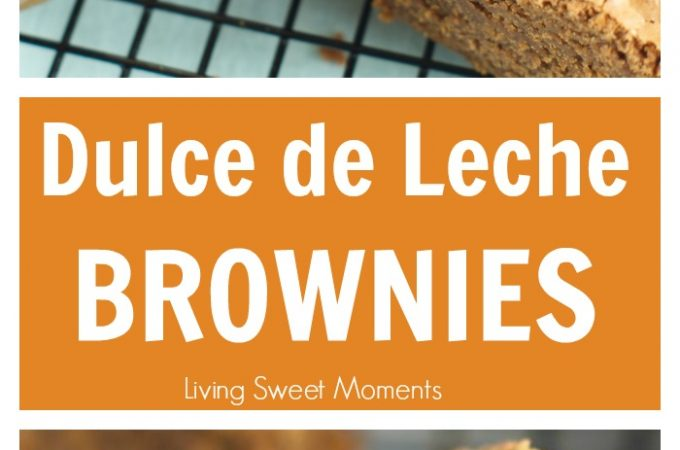 Dulce de leche brownies - Ooey Gooey fudgy brownies are filled with dulce de leche & chocolate chunks. The perfect dessert for any occasion. Make them today!