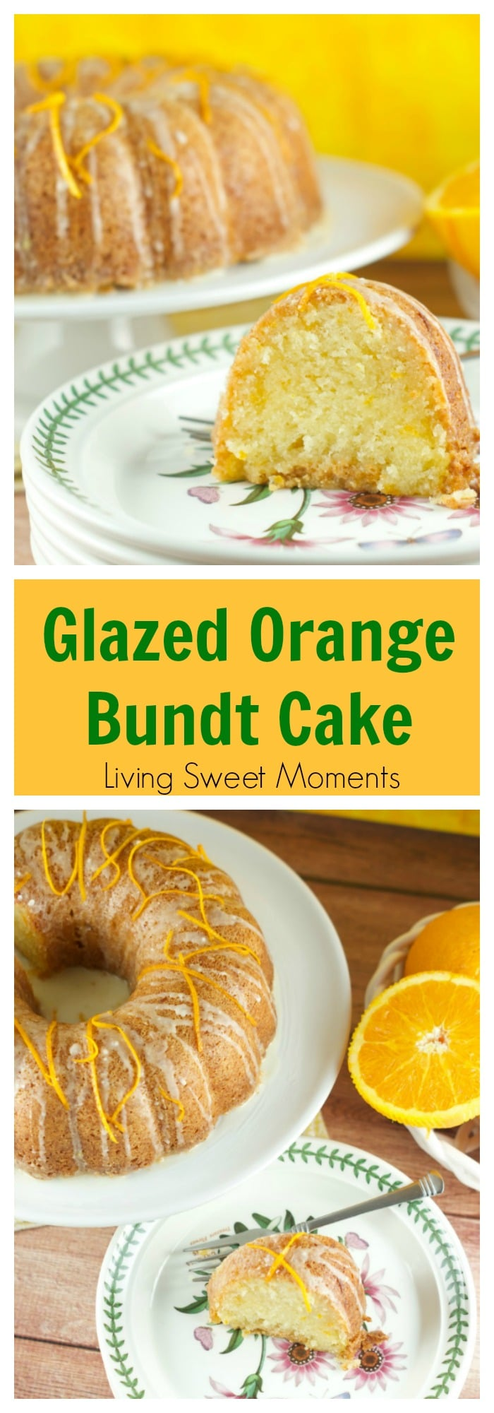 Glazed Orange Bundt Cake Recipe: delicious orange soaked bundt cake topped with a sweet orange glaze. The perfect dessert or breakfast for any occasion.
