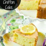 Lemon Lavender Chiffon Cake