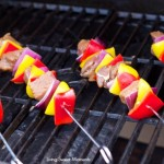 Marinated Beef Kabobs Recipe: delicious grilled beef and veggies served over a bed of rice. Perfect quick dinner idea for a weeknight or a get together.