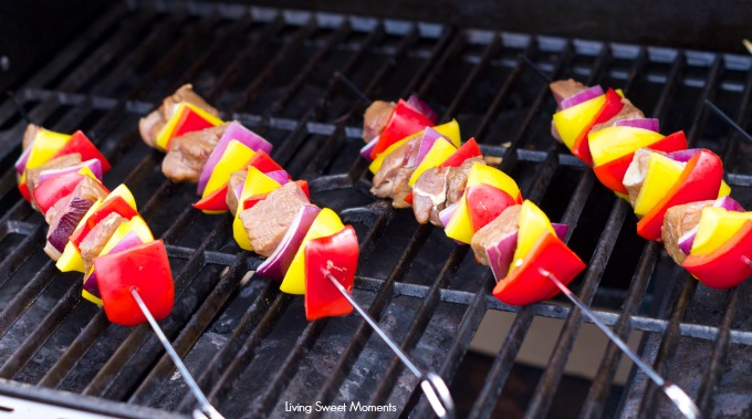 Marinated Beef Kabobs Recipe: delicious grilled beef and veggies ...