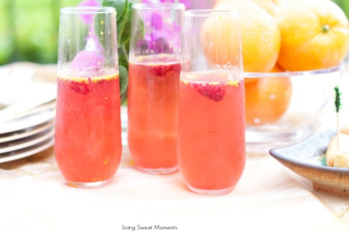 Orange Raspberry Sparkling Wine Cocktail - Living Sweet ...
