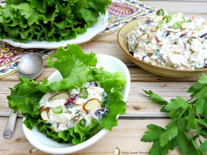 Balsamic Chicken Salad - this easy summer recipe can be enjoyed in a sandwich or alone. Perfect for a quick lunch and a great way to use leftover chicken.