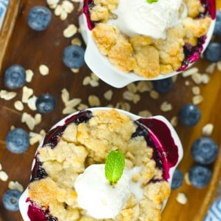 Amazing Blueberry Cobbler