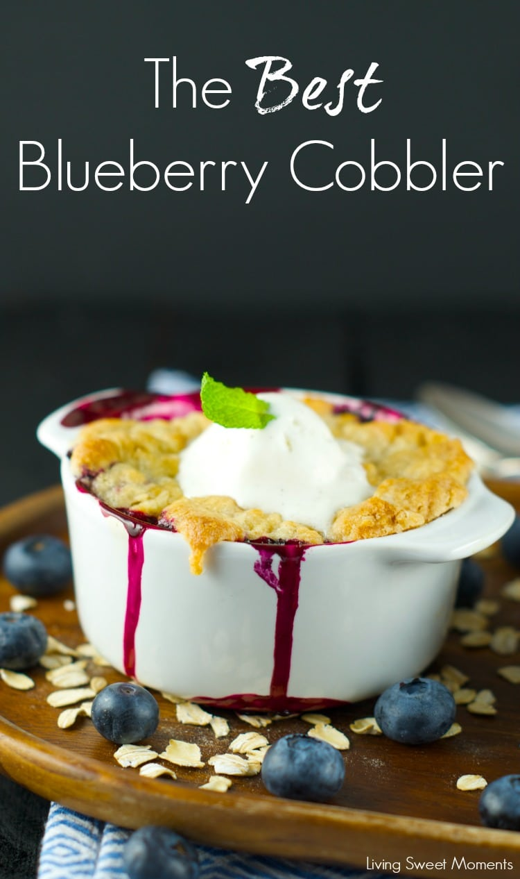 Blueberry Cobbler - A Warm delicious dessert that's tangy and sweet at the same time. Serve with a dollop of vanilla ice cream and you'll be in heaven. Yum!