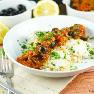 Savory Fish With Eggplant Caponata Sauce