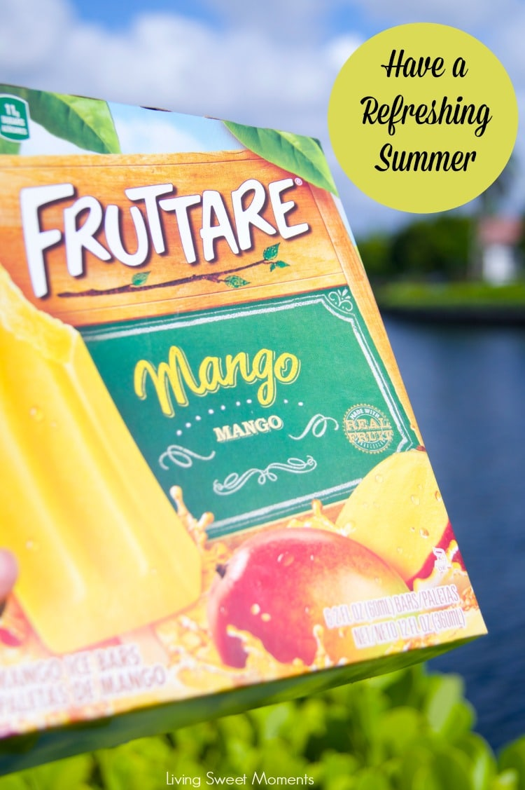 Enjoy The Summer With Fruttare Fruit Bars: beat the heat with fruit bars made with real fruit and top quality ingredients. Perfect for kids and adults alike
