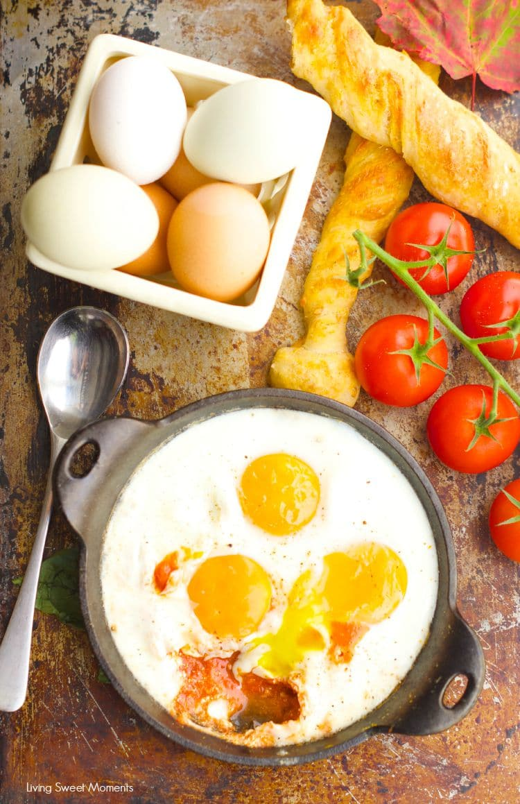 baked eggs with goat cheese and tomato recipe 4