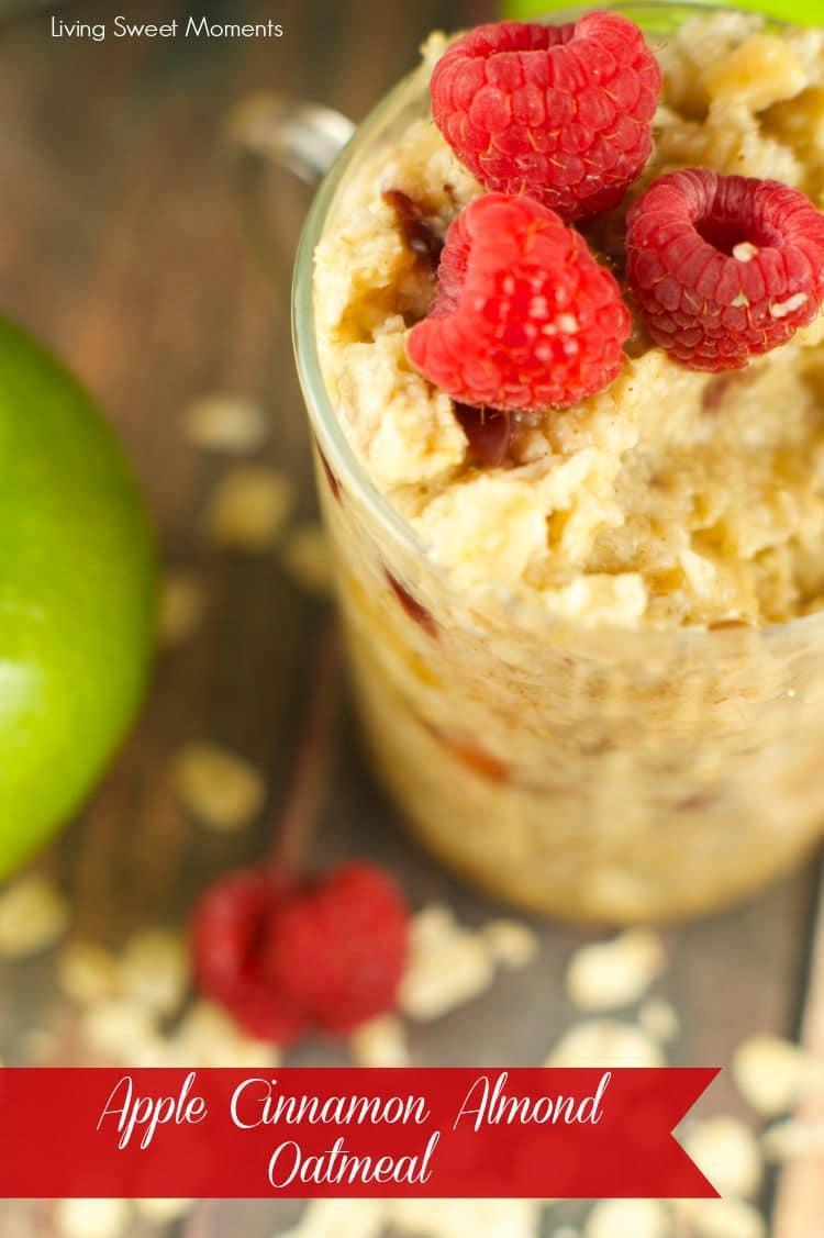 apple cinnamon almond oatmeal recipe cover