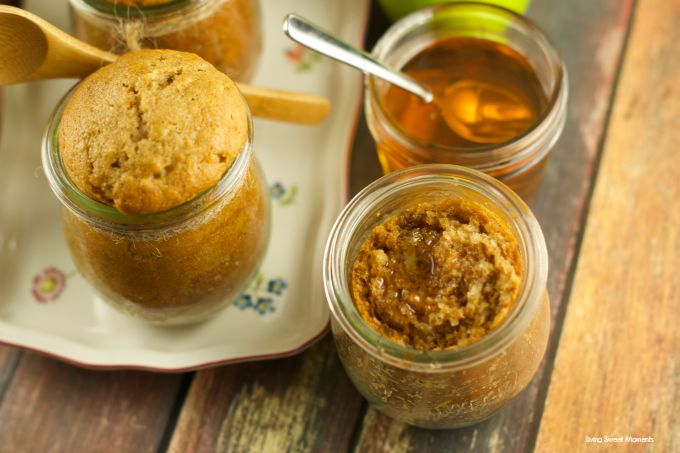 Apple Honey Cake In A Jar: celebrate rosh hashanah with these delicious & moist apple honey cakes in a jar. Give them out as gifts or serve them for dessert