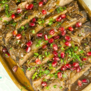 Wine And Pomegranate Brisket Recipe