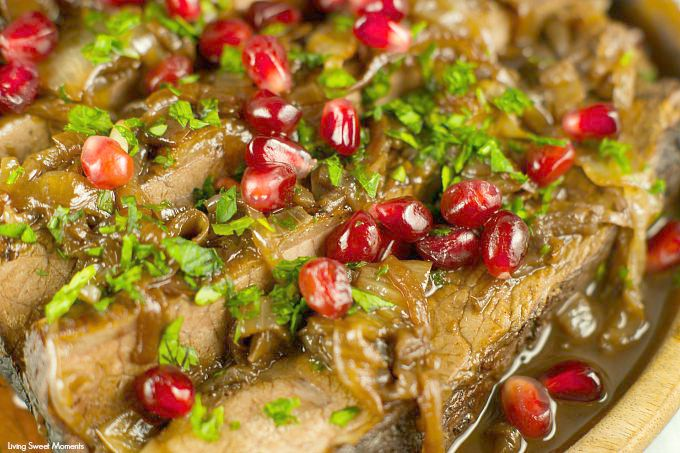 Wine And Pomegranate Brisket Recipe: delicious braised brisket with a ...