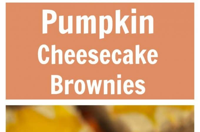 Pumpkin Cheesecake Brownies: this easy and delicious recipe is perfect for fall and winter. Brownies and fudgey with a creamy spiced pumpkin cheesecake top