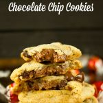 Truffle Stuffed Chocolate Chip Cookies - these chewy chocolate chip cookies are ooey gooey and stuffed with a chocolate truffle. The best cookie recipe! Yum