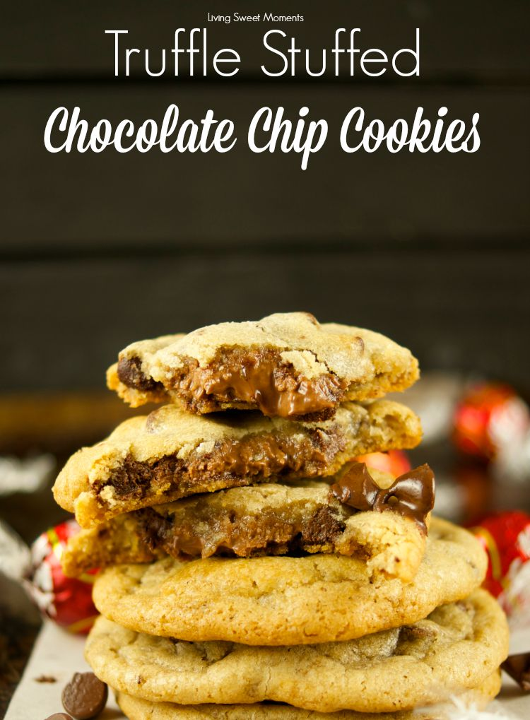 Stuffed Chocolate Chip Cookies - these chewy chocolate chip cookies ...