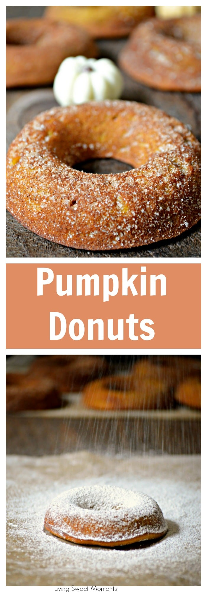 Baked Pumpkin Donuts – These are the best fall doughnuts you will ever try! They are so soft and moist and loaded with pumpkin/cinnamon flavor! Yummy!
