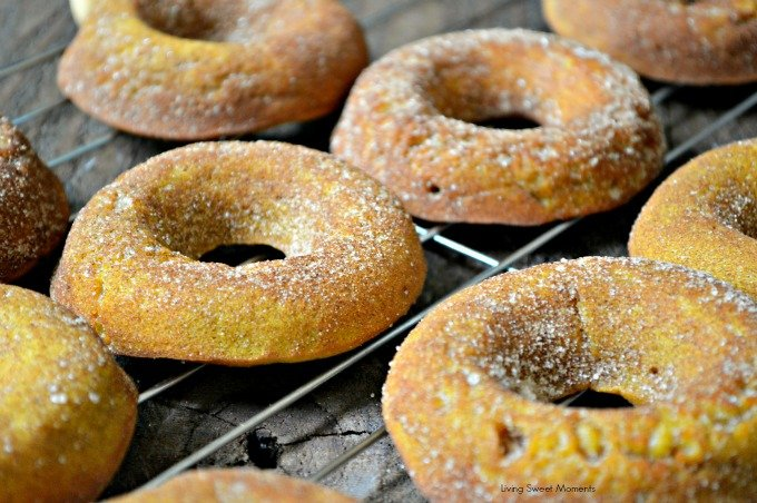 Baked Pumpkin Donuts  - These are the best fall doughnuts you will ever try! They are so soft and moist and loaded with pumpkin/cinnamon flavor! Yummy!