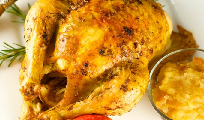 Rosemary Roasted Chicken With Applesauce + Giveaway!