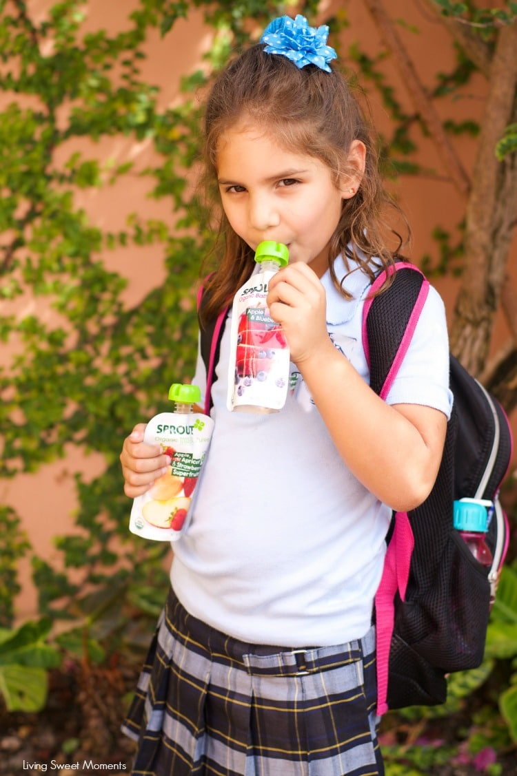 Snack Healthy On The Go With Sprout Organic - Sprout Organic is a non GMO snack that doesn't use acid preservatives and is made with real ingredients. Yum!