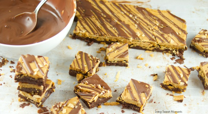 This Chocolate Caramel Fudge is easy to make and contains a layer of silky chocolate and a layer of creamy caramel. The ultimate no bake Holiday dessert. Gluten Free!