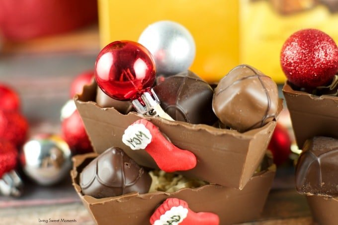 Edible Chocolate Boxes Tutorial - these Chocolate boxes make beautiful Holiday DIY gifts for friends and family. Fill them up with chocolate or candy. Yum!