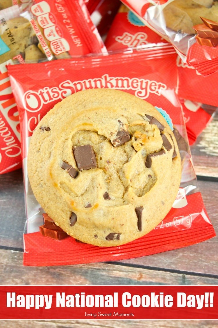 Celebrate National Cookie day with Otis Spunkmeyer's Chocolate Chunk Cookies! They are soft, chewy and full of chocolate. Contains no funky stuff!
