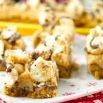 Peanut Butter Caramel Popcorn Bars