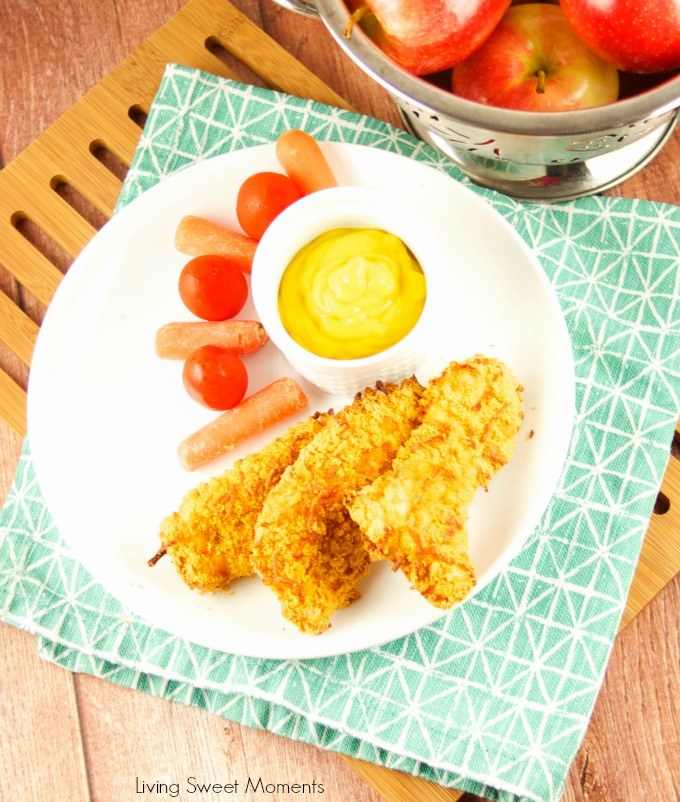 These Cracker Crusted Chicken Strips are oven baked until crunchy perfection. The perfect under 30-minute dinner idea using Goldfish crackers. Kid friendly!