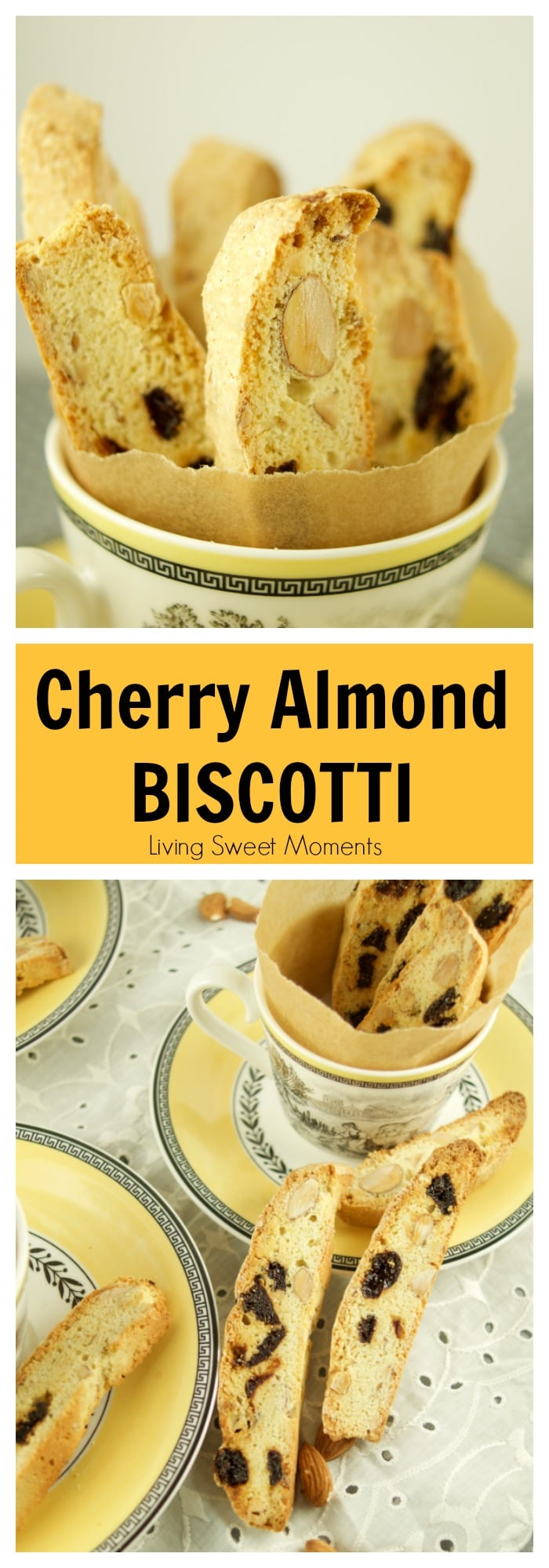 These delectable Italian Cherry Almond Biscotti (Cantucci) are the ...