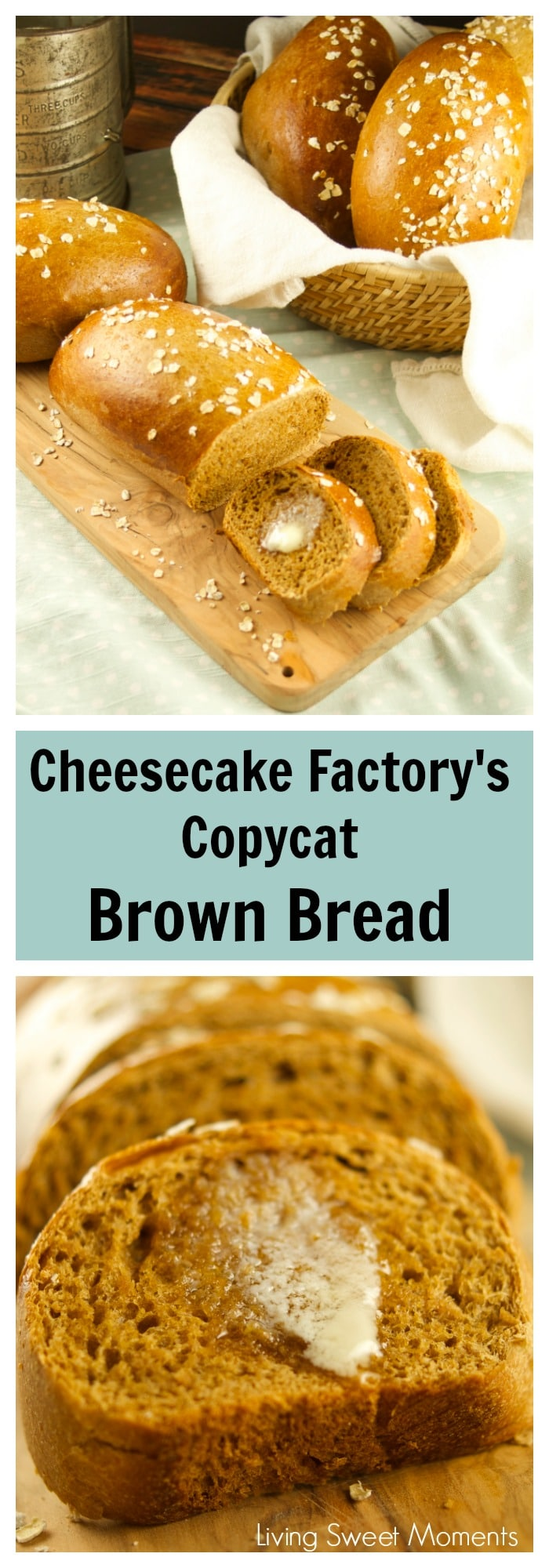 Check out how easy it is to make Copycat Cheesecake Factory Brown Bread with honey and oats. Delicious, soft and just like the real thing. Yum!