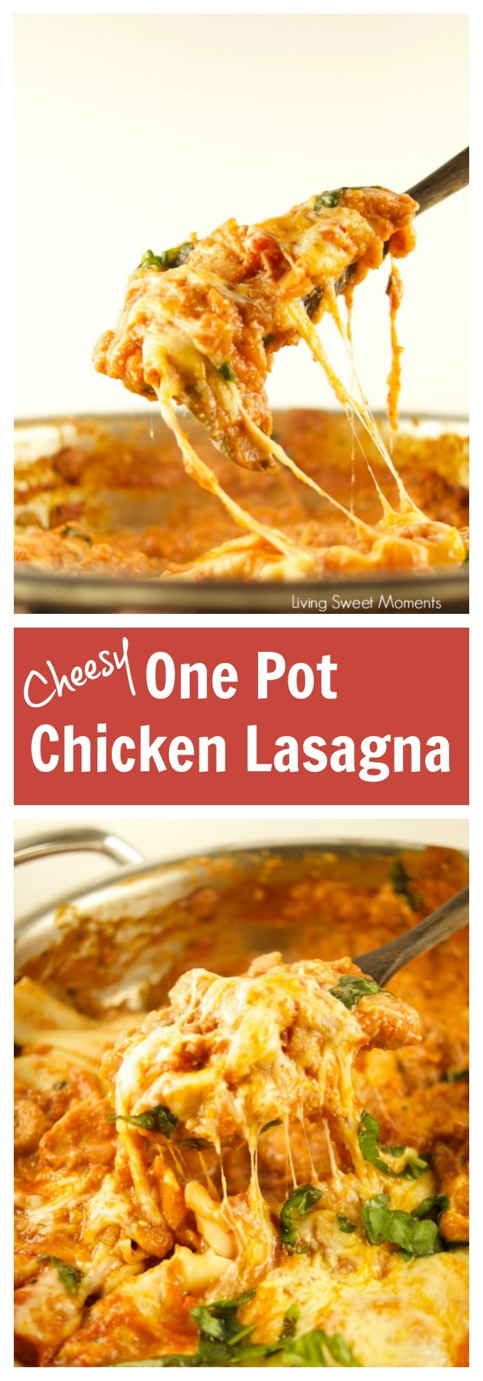 Cheesy One Pot Chicken Lasagna Living Sweet Moments