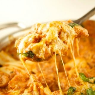 Cheesy One Pot Chicken Lasagna