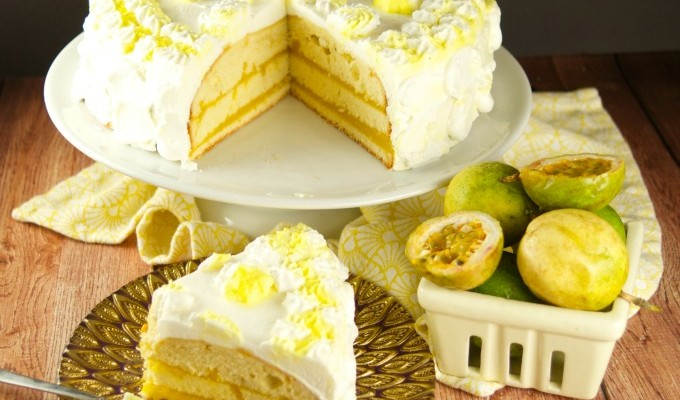 Passion Fruit Cake + Giveaway!