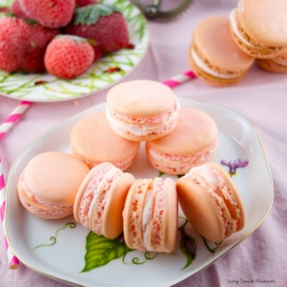 Crazy Good Strawberry Macarons