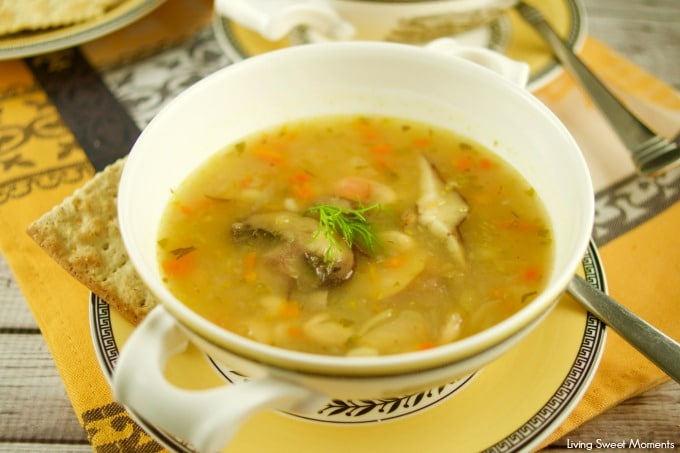 This hearty white Bean And Barley Soup is full of veggies and flavor. Ready in no time, tastes like it's been simmering for hours. Vegetarian dinner idea
