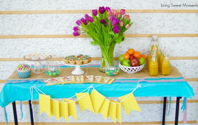 Hosting A Latino Easter Party with easy to make sweets and desserts using a Latino Flair! Decorate with pastel colors and the new Easter M&M's - Yum!