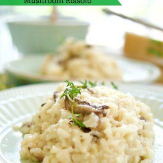 Pressure Cooker Easy Mushroom Risotto