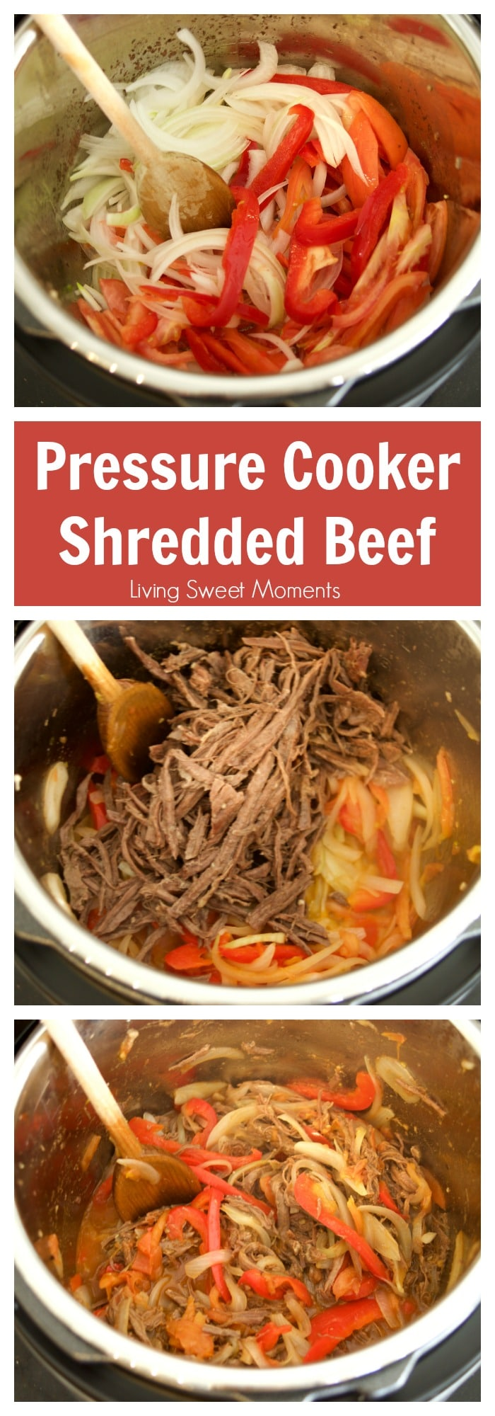 This Venezuelan Shredded Beef (carne mechada) is ready in no time using the Instant Pot pressure cooker. The perfect quick weeknight dinner idea!
