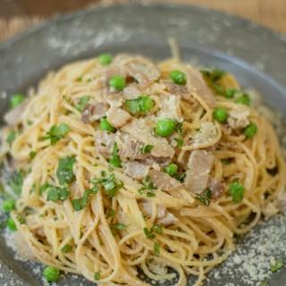 Spaghetti Carbonara Recipe With Peas