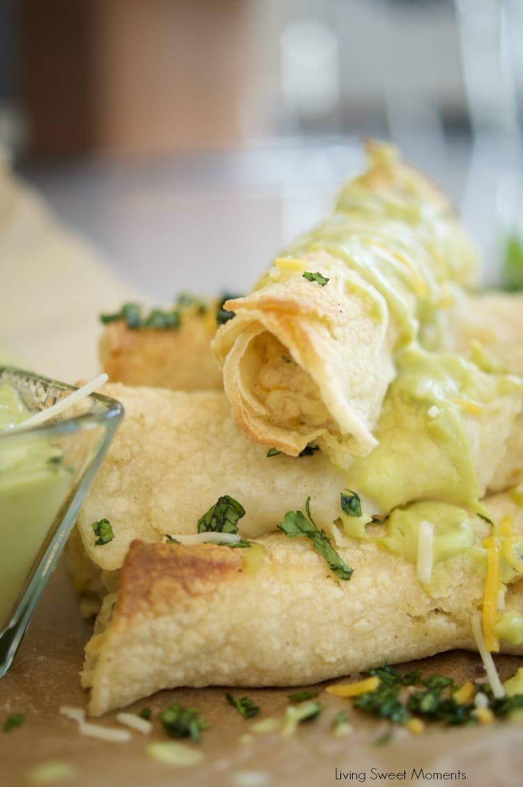 This delicious Baked chicken taquitos recipe is easy to make and yummy. The Chicken is baked with cheese and salsa verde sauce on a crispy tortilla for a quick weeknight dinner idea that the whole family will enjoy!