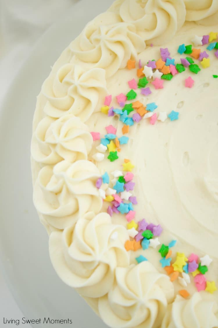 This amazing Birthday Cake Icing Recipe is easy to make and delicious! My favorite go-to vanilla buttercream that pairs perfectly with cakes and cupcakes.