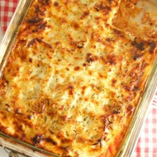This easy Diabetic Lasagna Recipe is delicious, hearty and healthy. Made with ground turkey and fat-free ricotta. Perfect for an easy weeknight dinner idea.